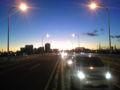 初夕焼けなう。  堀切橋より。  堀切橋は富士見橋なんだけど、携帯