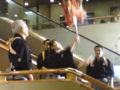 次は大神楽。 国立劇場の大階段にて。歌舞伎初日の前は楽しいねぇ♪
