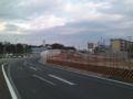 都市計画道路 新港〜横戸町線の海側取り付け部。夏の国体までにオー