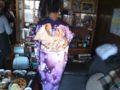 妹が成人式前撮りのため着物なぅ☆デーハーな平成っ子w