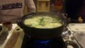 夜は上諏訪でコラーゲン鍋