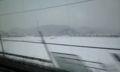 京都はピーカンだったけど、このあたりは真っ白じゃあ
