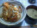 朝飯なう 味噌カツ卵綴じ丼