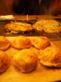 明石焼き(地元では玉子焼きといいまーす)、スジお好み焼き、焼きそば