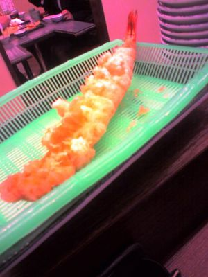 (ac) 学食のランチを蹴って吉塚まで戻り、だるまの天ぷらへ。大えび定