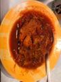 豚バラかたまり。 圧力鍋つこうて、トマトソースで煮込んでみたでご