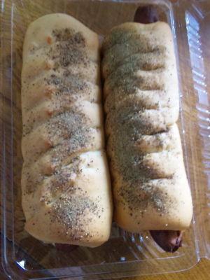 中央区にある「kuro-yuri」のソーセージパン!ブラックペッパーたっぷり