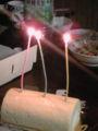 弟の誕生日です。三歳です、嘘です。