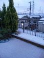 4月で、しかも東京なのに、雪積もってる・・・ 誰かが「お天気ボッ