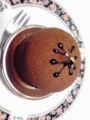 食後にチョコケーキ。ほっこり。