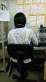 背筋を伸ばす。同僚。