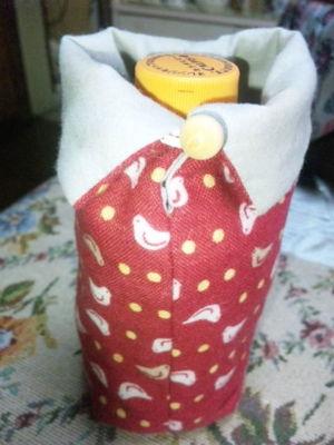 奈良の中川さんで買ったペットボトルフォルダー。鹿さん柄もあるよ