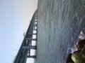 関空の橋の下で穴釣りなう!全く何も釣れてないけど気持ちいい♪