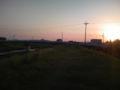 今日はペースアップして栃山川沿いを10kmラン。キツい〜!