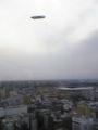 新横浜プリンスなう。飛行船と一緒に日産スタジアムを。なんと35階で