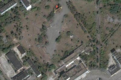 google mapでプリピャチの観覧車を探してみた。本当にあるん だねぇ。