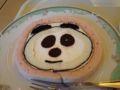 上野公園内のカフェテリアで食べたパンダロール。