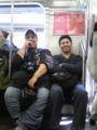 En el tren con @gifurama y @rigomm