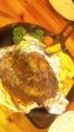 大好きな小さい洋食屋さんのドイツ風ハンバーグ…! 付け合わせの人