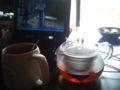 今日も休みだから… お茶して時間潰します。雨だし