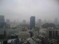 霧の街東京。雨なんだけどね