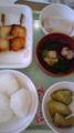 ayu:ちょっとうたた寝してたらお昼きた♪小おにぎり3つ・お魚銀ダラ