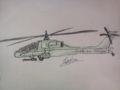 気分転換に軍用ヘリ描いてみる。アパッチのつもり…今度ちゃんと資料