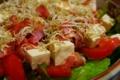 [ごはん]ベーコンとじゃこと豆腐のサラダ