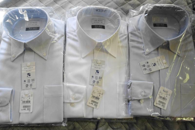 2020年スーツのAOKIのノンアイロンシャツ福袋(ノーアイロンシャツ3枚セット)