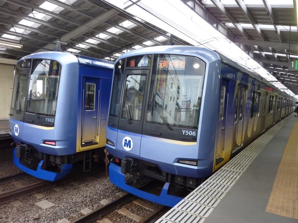 Y500系同士の並び(Y512F、Y516F)@綱島駅