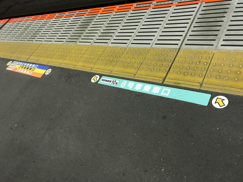 JR武蔵小杉駅3番線の乗車位置案内更新 相鉄線直通乗車時は横浜方面とは別の列に並ぶ(2019/11/27)