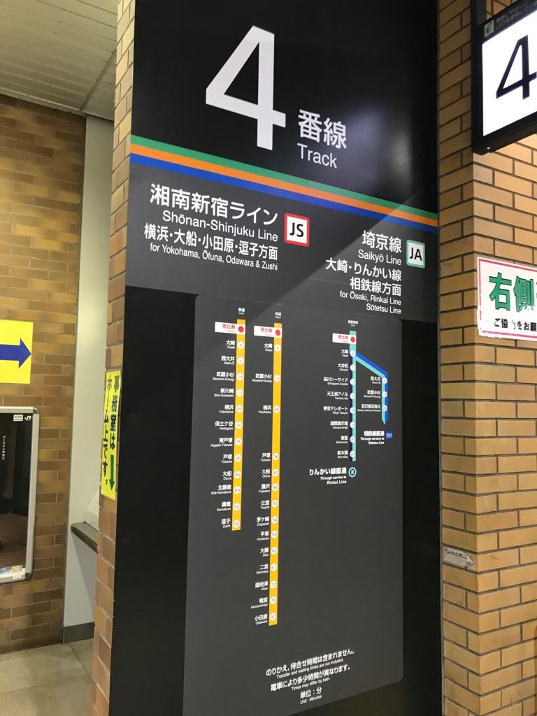 駅別所要時間の路線図