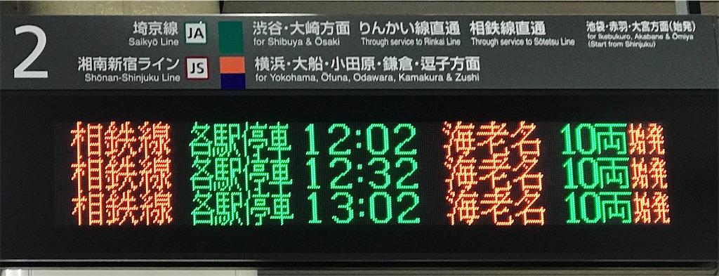 新宿駅2番線の発車時刻案内