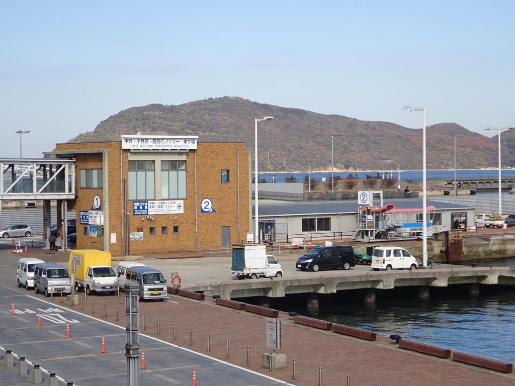 サンポート高松の宇野・小豆島・直島方面の乗り場
