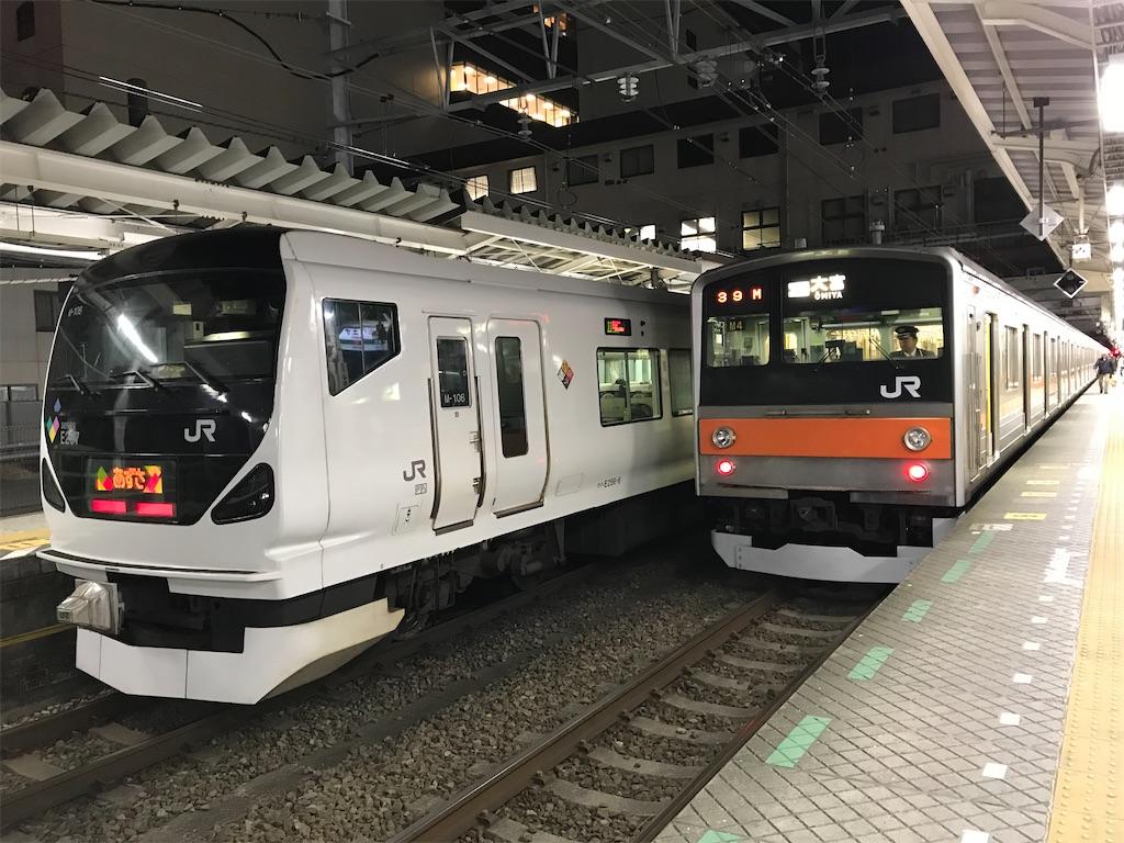 E257系あずさと205系むさしの号(2019/1/2)