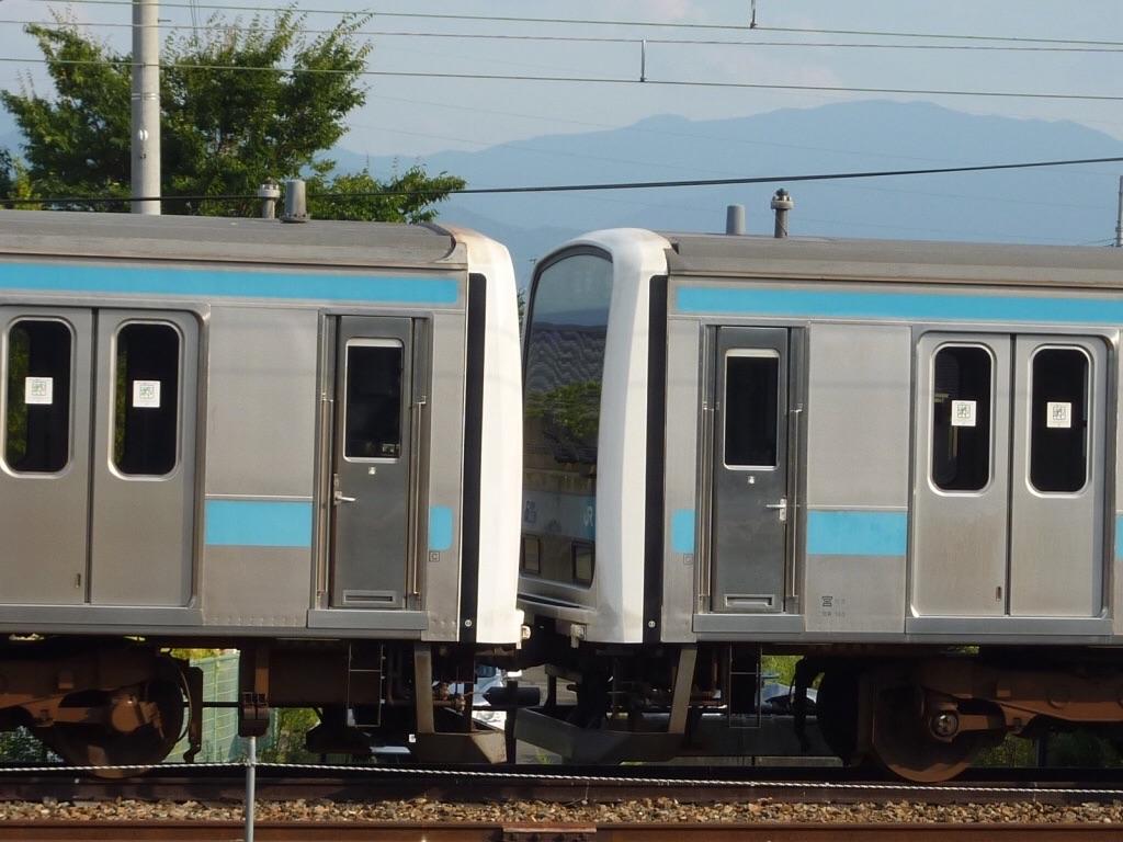 2編成が連結される形で留置されていた(2010/9/6)