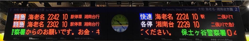 相鉄線内でも3文字の行き先・乗換駅が並びやすい(西谷駅1・2番線)