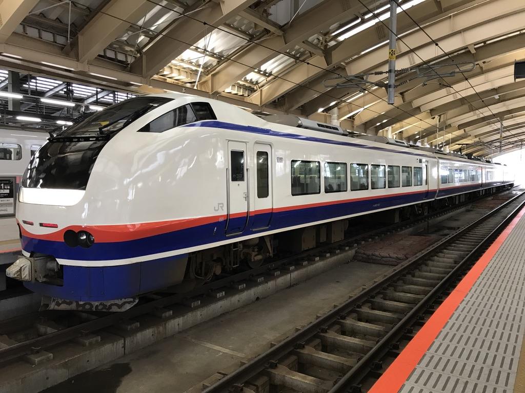 珍しく新潟駅5番線に到着する仕様のしらゆき5号・E653系1100番台(2020/1/13)