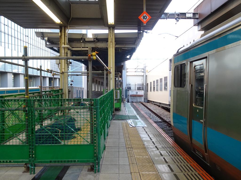 JR桜木町駅2番線(降車専用ホーム)から関内方面を望む(2020/1/29)