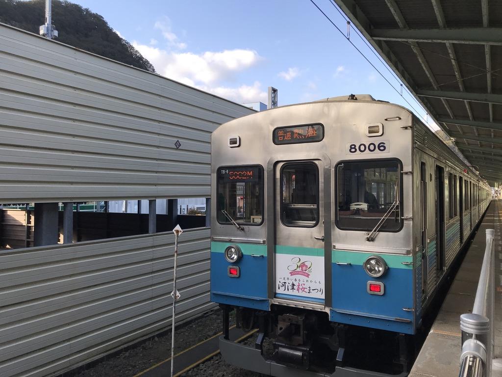 伊豆急下田駅に停車中の8000系(2020/2/11)