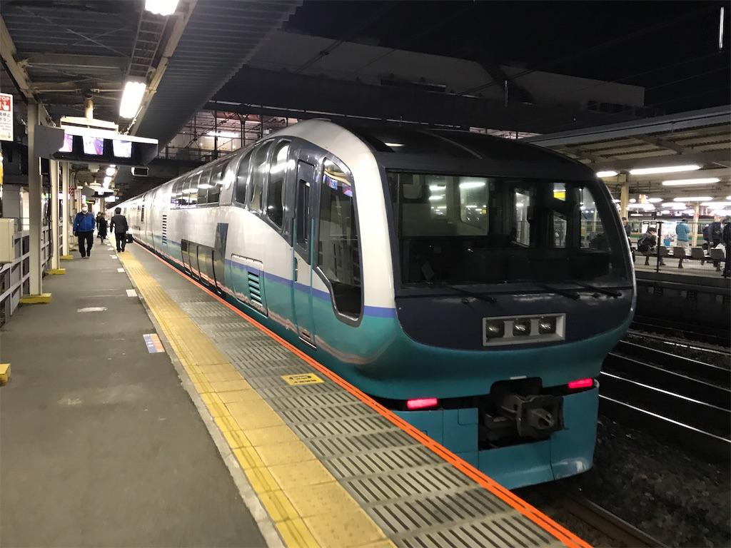 大宮駅11番線に到着したスーパービュー踊り子10号(2020/2/22)