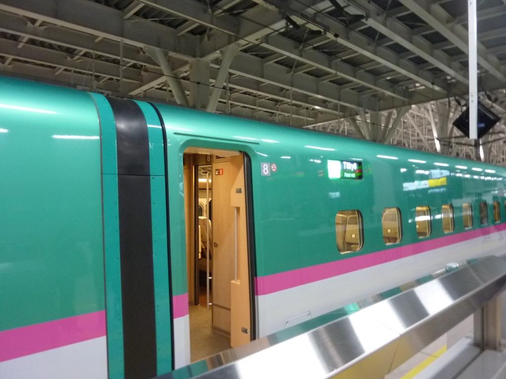 新青森駅13番線に入線したE5系はやぶさ6号東京行き(2011/3/5)