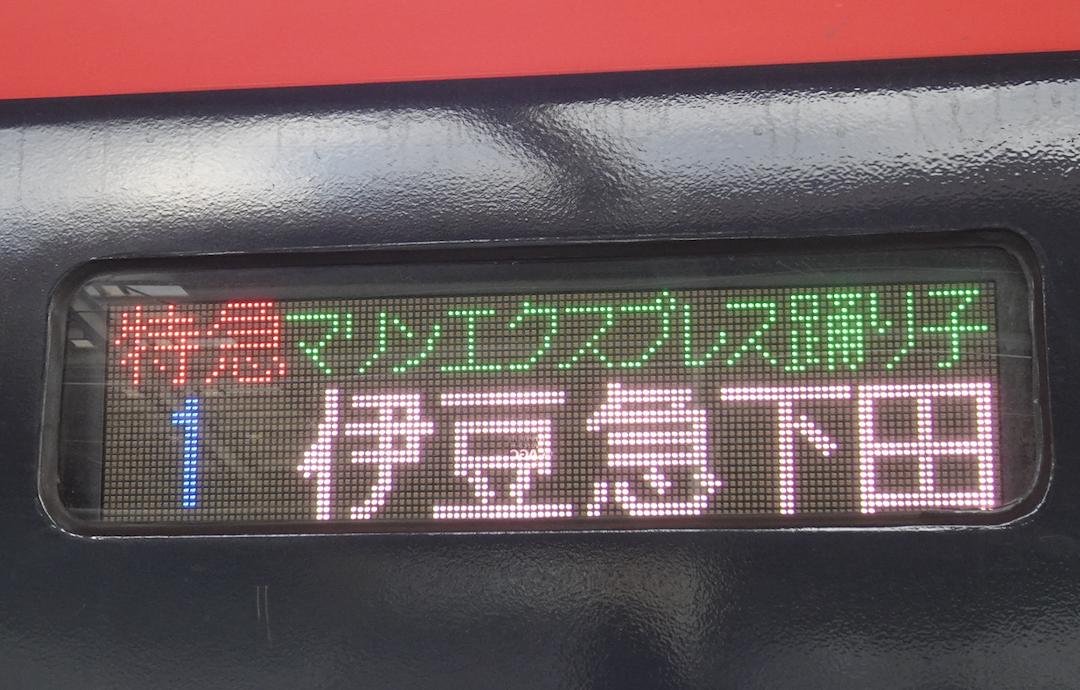 特急マリンエクスプレス踊り子号伊豆急下田行き(1号車)(2020/2/11)