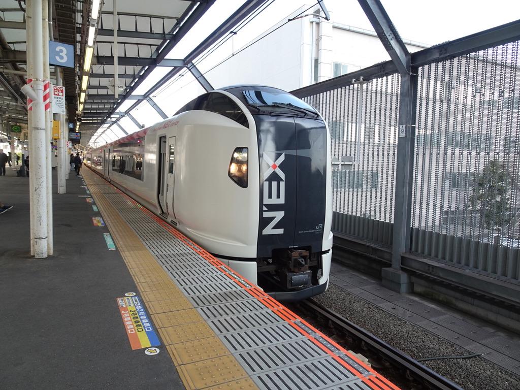 武蔵小杉9:48発 E259系成田エクスプレス4号大船行き(2020/2/29) 現在は新宿方面のNEXに置き換わり運転されていない
