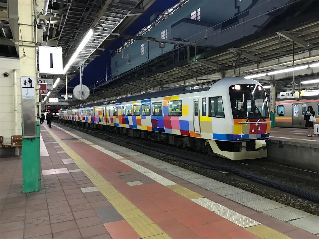 地上時代の新潟駅2番線に到着した485系きらきらうえつ号(2018/4/13)