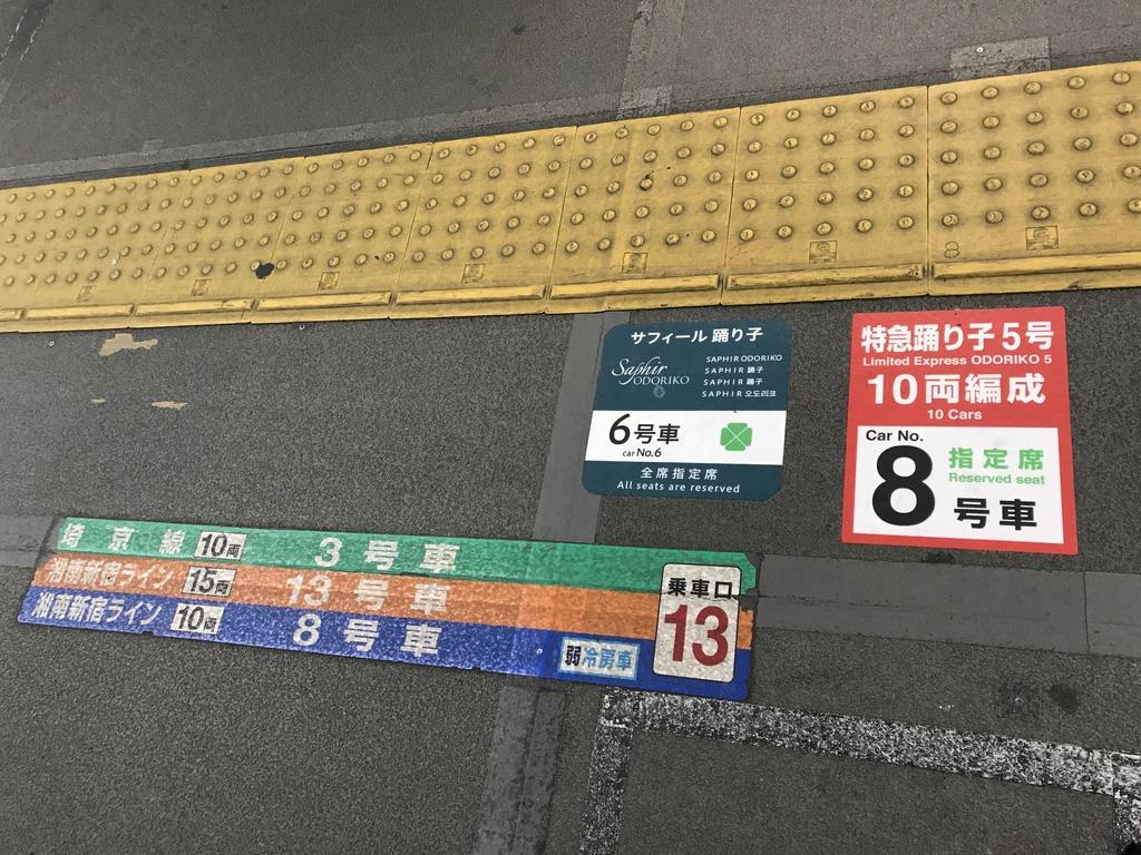 サフィール踊り子6号車・10両編成6号車・乗車口13