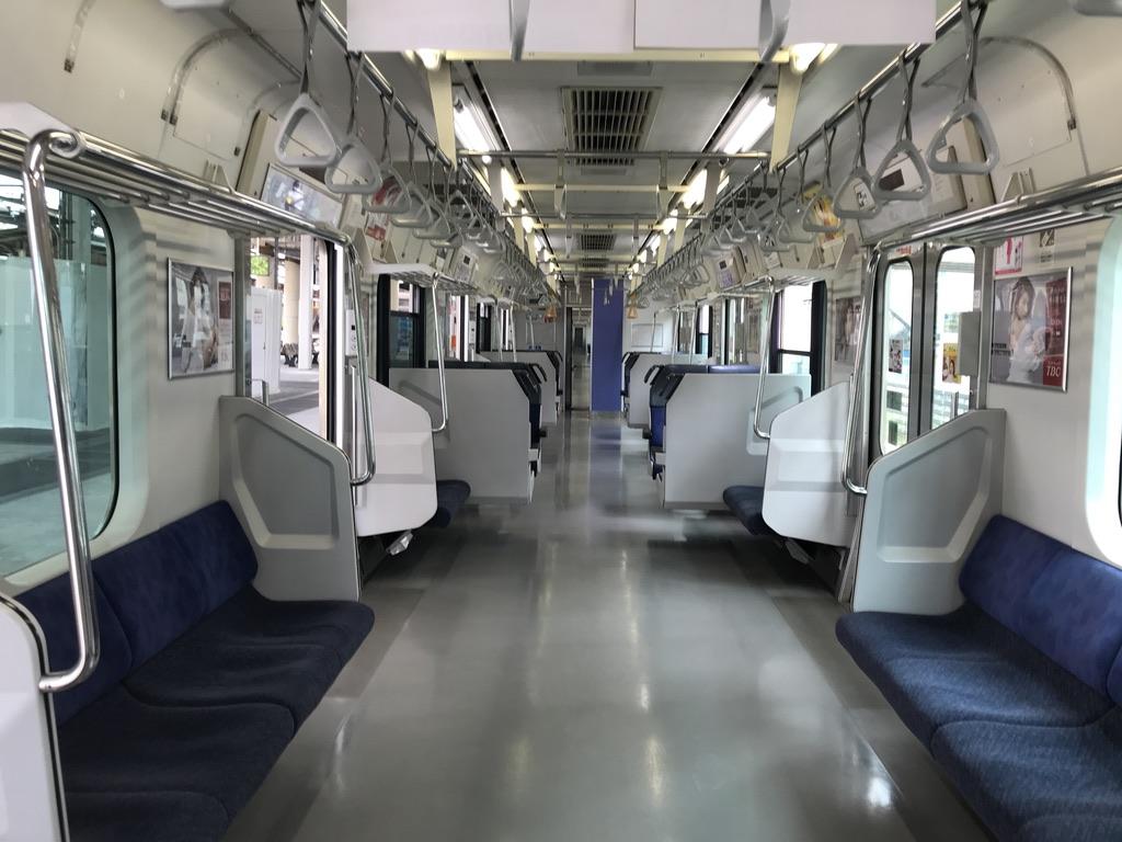 川崎駅時点で乗客の居なかった品川始発快速アクティー小田原行き1号車(2020/5/31)