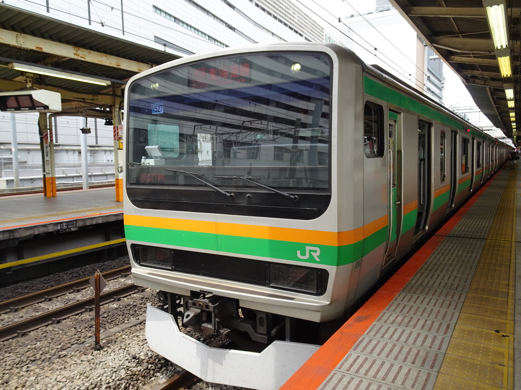 横浜駅6番線に到着したE231系快速アクティー小田原行き(2020/5/31)