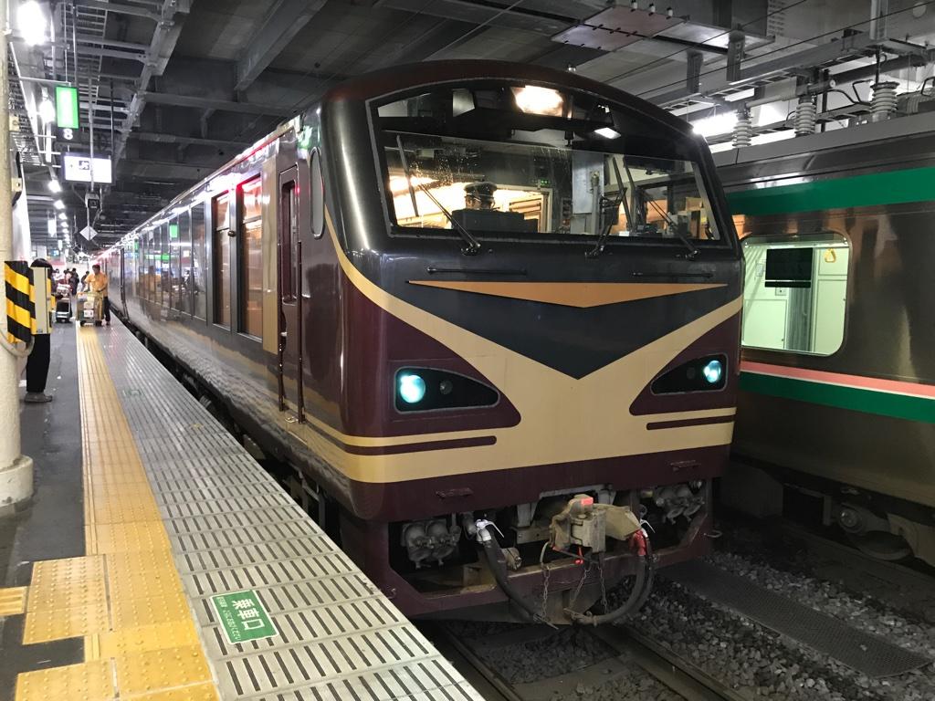 仙台駅5番線に到着したキハ48形リゾートみのり号(2019/6/30)