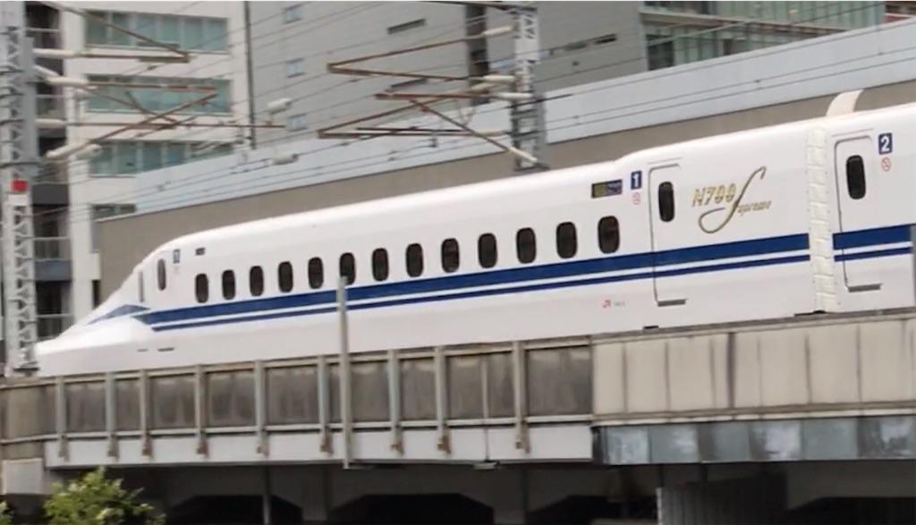 N700S二番列車となった、のぞみ3号博多行き(2020/7/1)